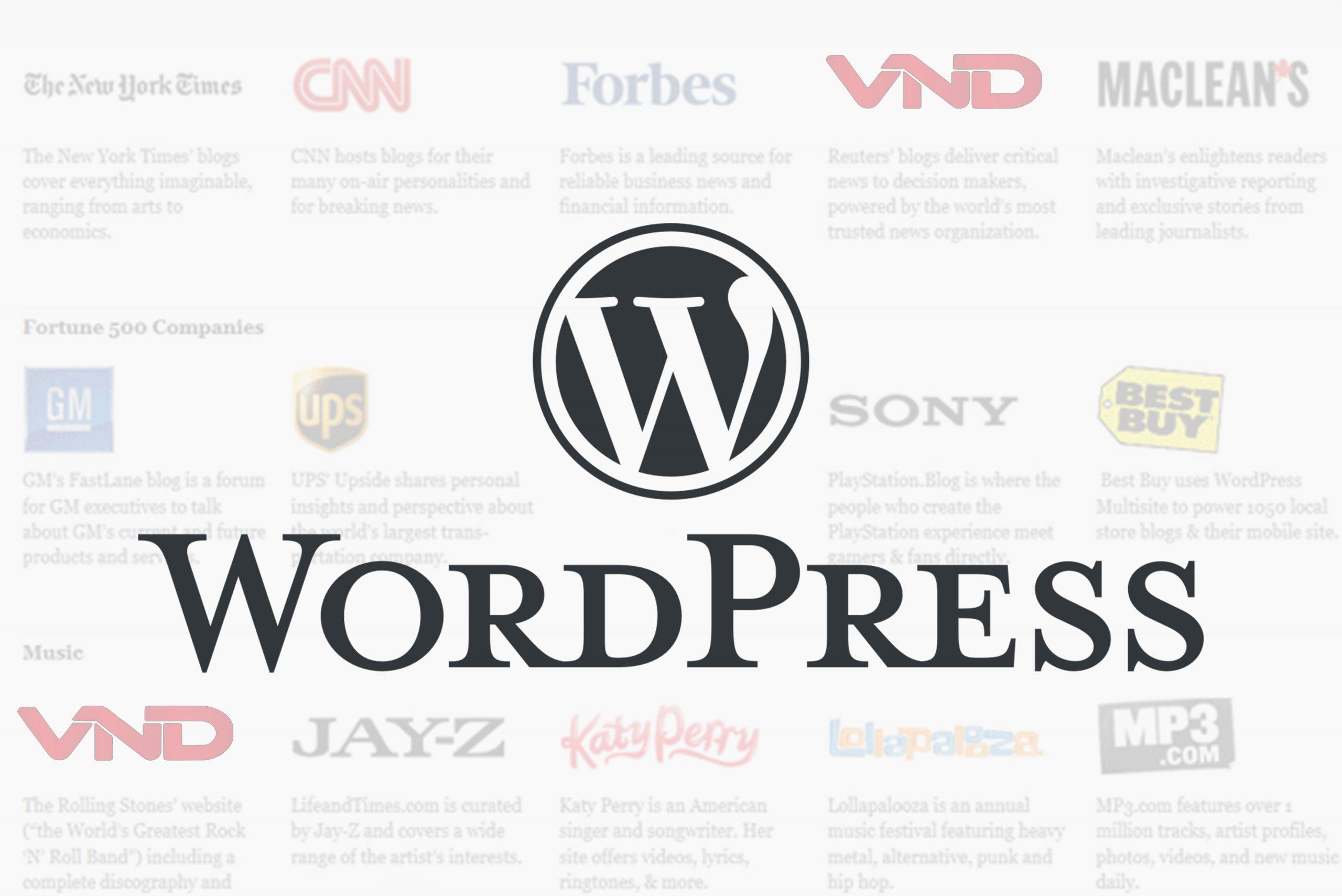 Các trang web sử dụng WordPress