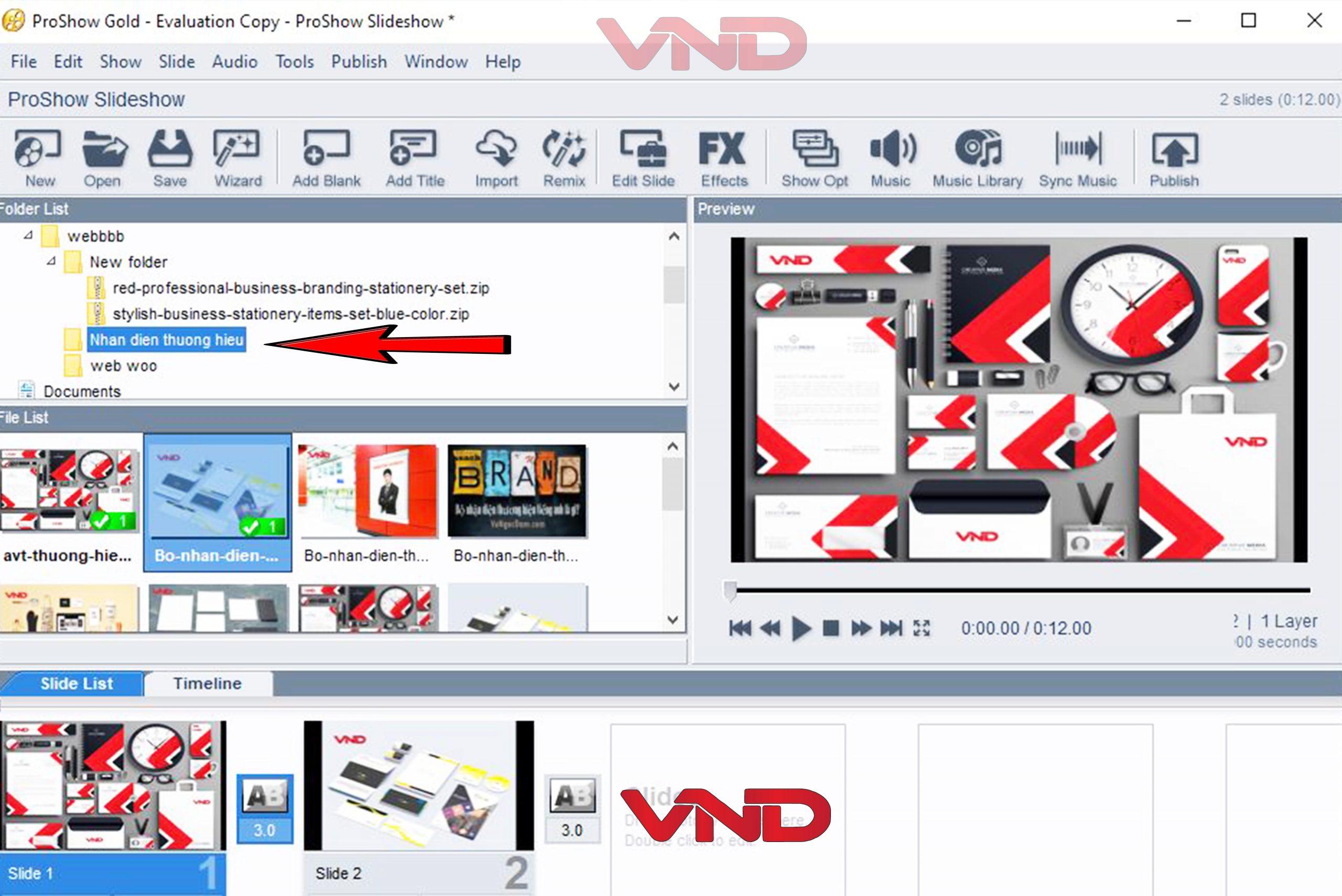 Các bước tạo Video ảnh bằng Proshow