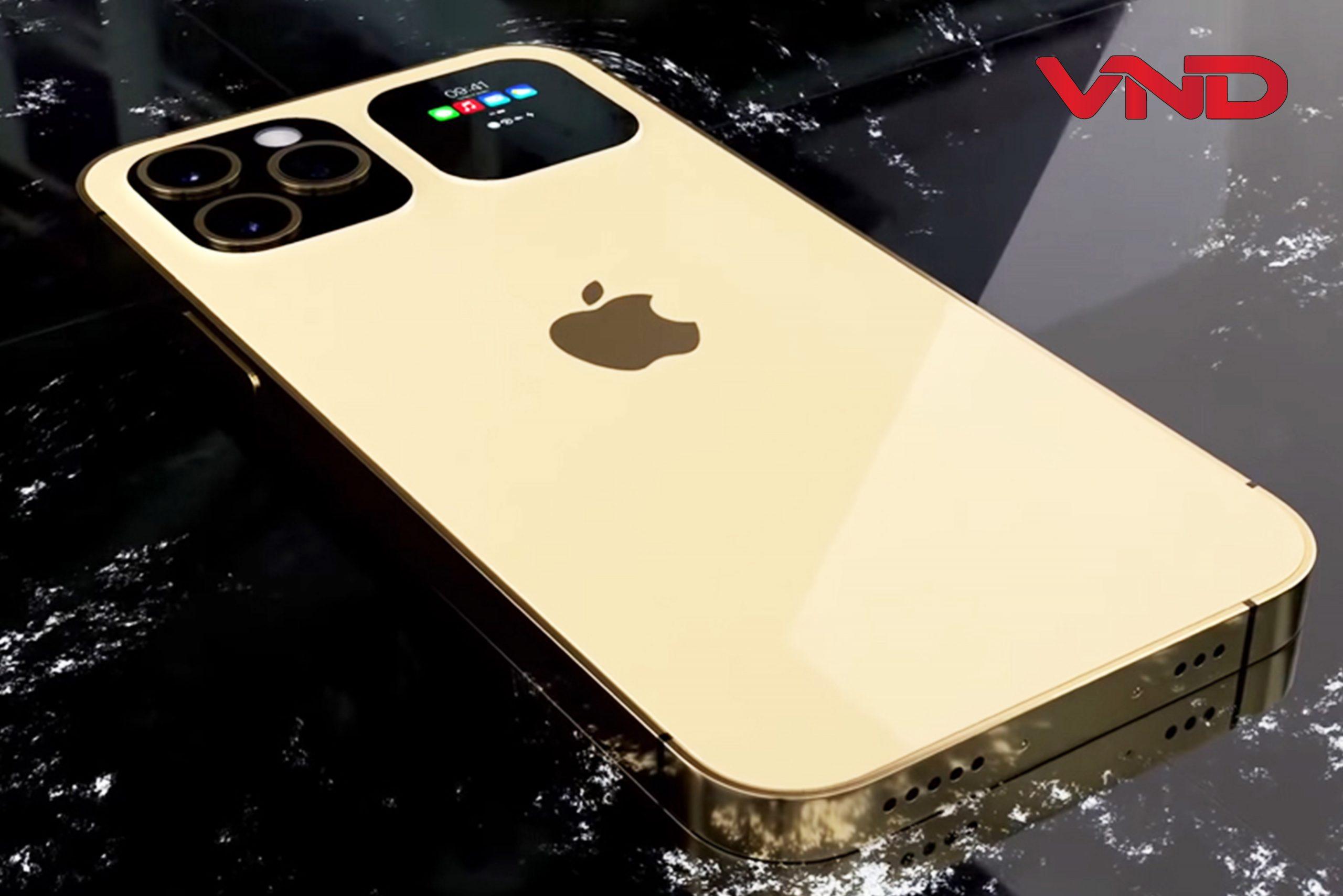 Một concept iPhone 13 Pro với màn hình phụ ở mặt lưng