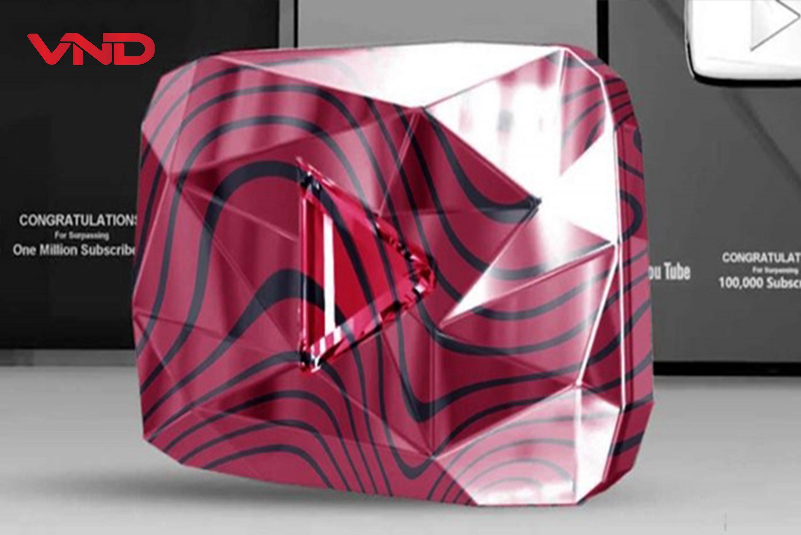 Nút kim cương đỏ