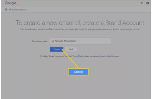 Nhấn vào nút Create a new channel