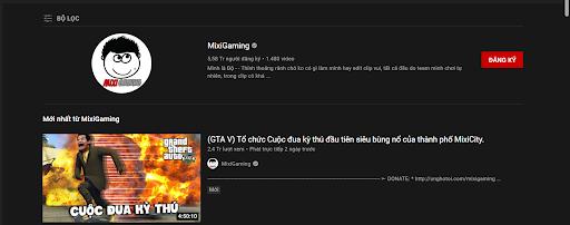 Độ Mixi là youtuber nổi tiếng bậc nhất trong làng Game và nhận không ít tiền ủng hộ từ người xem